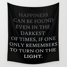 Happiness can be found Quote Wall Tapestry