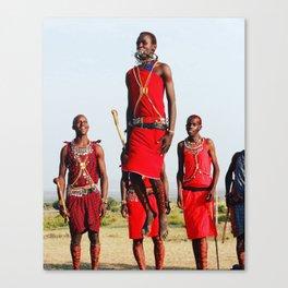 Warrior Dance in Nairobi, Kenya Canvas Print