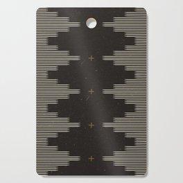 Southwestern Minimalist Black & White Cutting Board