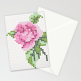 Shabby Chic Pink Rose Stationery Cards