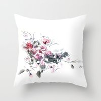 china Throw Pillows featuring China by tatiana-teni