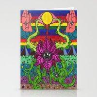 third eye Stationery Cards featuring third eye by Ichsjah