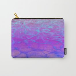 Purp Pink Blue Glimmering Waters Carry-All Pouch