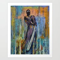 ninja Art Prints featuring Ninja by Michael Creese