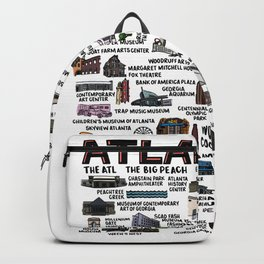 Atlanta Map  Backpack