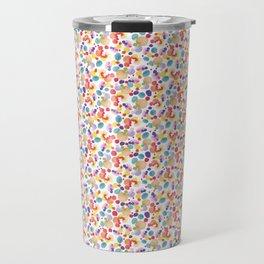 Rainbow Watercolor Circles Travel Mug