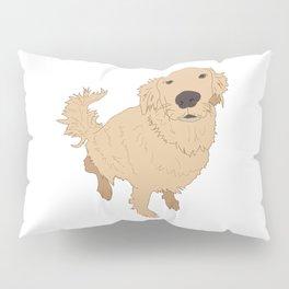 Golden Retriever Illustration on a White Background Pillow Sham