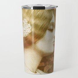 Autumn Woman, art nouveau drawing Paul Berthon 1900 Travel Mug