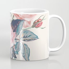 Botanical vector rose illustration in vintage style Coffee Mug