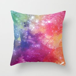 Watercolor space #2 Throw Pillow