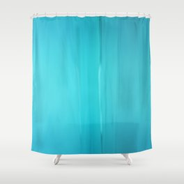 Abstract Turquoise Shower Curtain