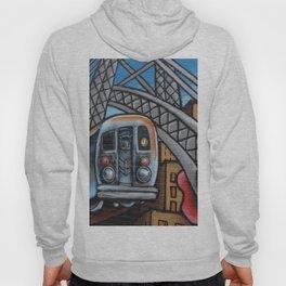 Subway Train Urban Street Art Graffiti Hoody