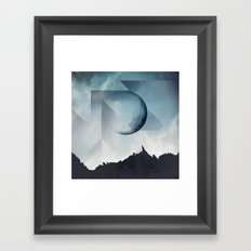 Jagged Peaks Framed Art Print