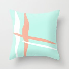 Turquoise & Coral (2) Throw Pillow