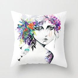 Exotic Girl Throw Pillow