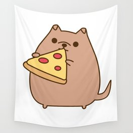 Pupsheen Eating Pizza Wall Tapestry