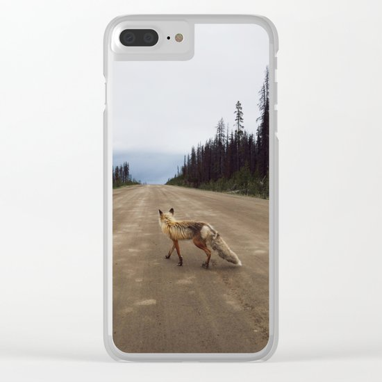 Road Fox Clear iPhone Case
