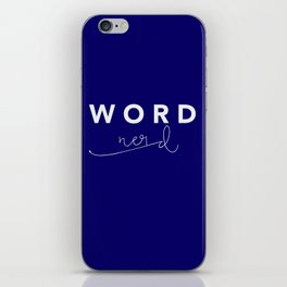 Word Nerd iPhone Skin