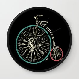 Cycling Forever | Penny Farthing High Wheel Wall Clock