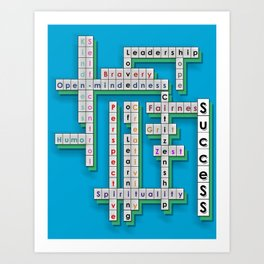 Cross Word Puzzle of Success Art Print
