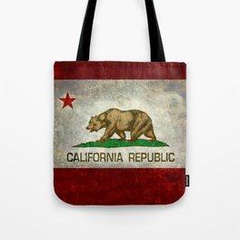 California Republic state flag Vintage Tote Bag