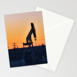 Oil Rig At Sunset 4 #texas Stationery Cards
