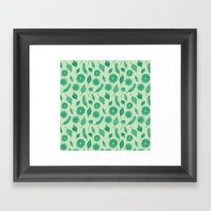 Leaf Pattern Framed Art Print