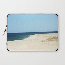 Minimalist Sand, Sea, and Sky Laptop Sleeve