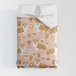 Corgi coffee welsh corgis dog breed pet lovers pink corgi crew pet lovers Comforters