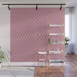 RETRO PINK AND BROWN PATTERN Wall Mural