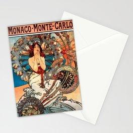 Alphonse Mucha Monaco Monte Carlo Stationery Cards