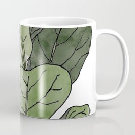 Ficus Lyrata Potted Plant.. Coffee Mug