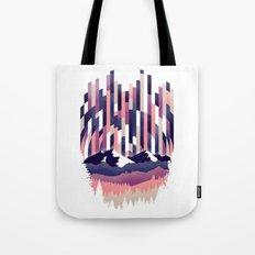 Sunrise in Vertical - Winter Purple Tote Bag