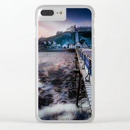 Snowey Saltburn Clear iPhone Case