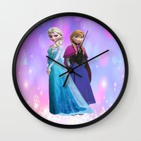 duvet cover Wall Clocks featuring Frozen anna elsa duvet cover by customgift