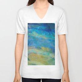 Sunrise Fire Opal Abstract Unisex V-Neck