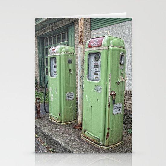 Vintage Gas Pumps Stationery Cards