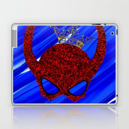 Horns, masked and crowned on blue Laptop & iPad Skin