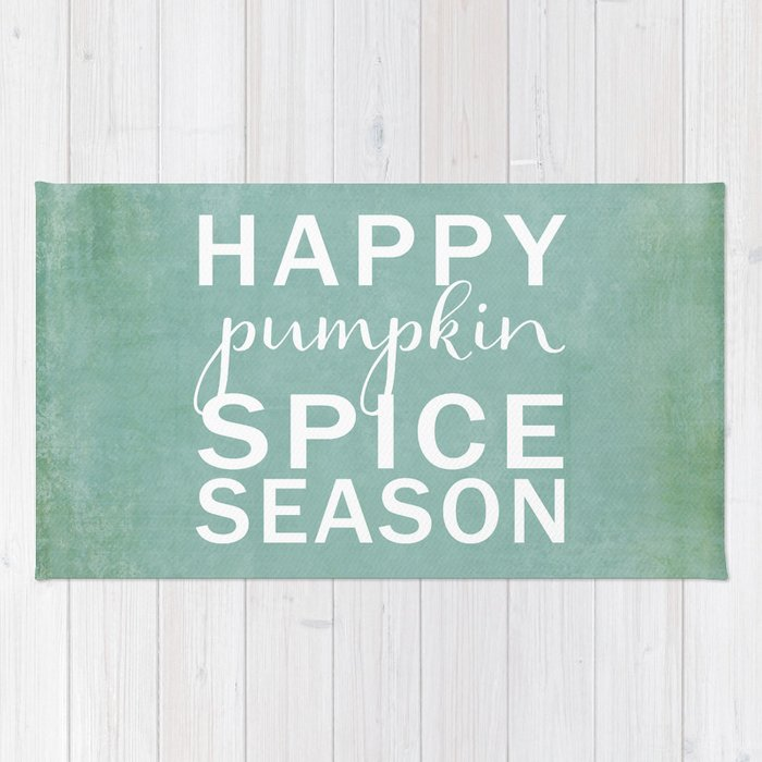 happy pumpkin spice season-blue Rug