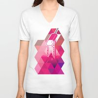 popsicle V-neck T-shirts featuring Raspberry Popsicle by Spires
