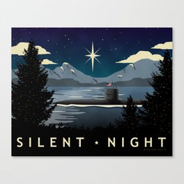 Silent Night - Submarine Christmas Canvas Print