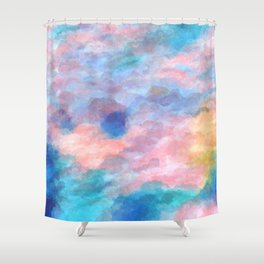 The Elated Omission Shower Curtain