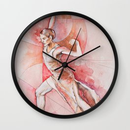 Float, watercolor & pastel Wall Clock