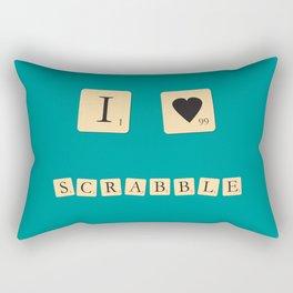 I heart Scrabble Rectangular Pillow