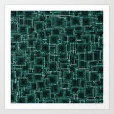 The Maze - Teal Art Print