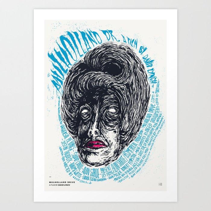 mulholland drive david lynch film posters art print by ivomatic