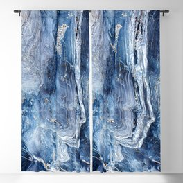 """Travel & nature photography """"details of a rock in blue colors. Abstract fine art mineral print.  Blackout Curtain"""