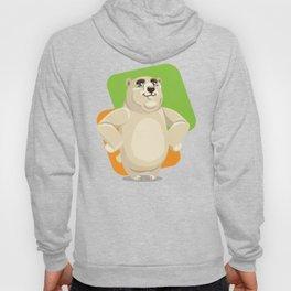 Majestic Polar Bear Standing Hoody