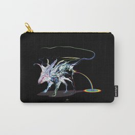 Rat and rainbow. multicolored on dark background - (Red eyes series) Carry-All Pouch