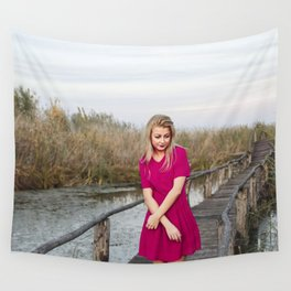 autumn girl Wall Tapestry